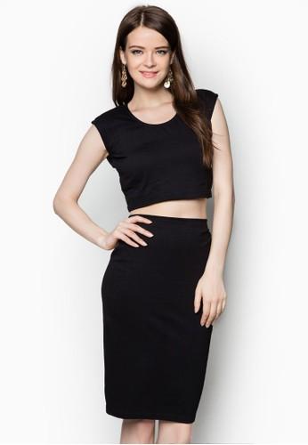esprit旗艦店短版上衣及及膝窄裙套裝, 服飾, 洋裝