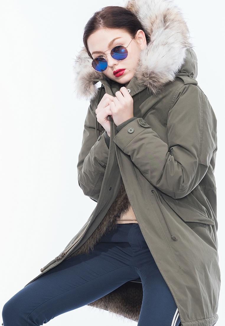 Style Aida Padded Fur Alpha Parka Army Faux 7Fd5q