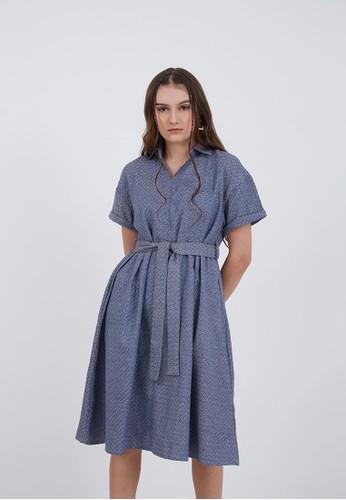 Berrybenka Label blue Patricia A-Line Tie Dress Blue 7E024AA52C413BGS_1