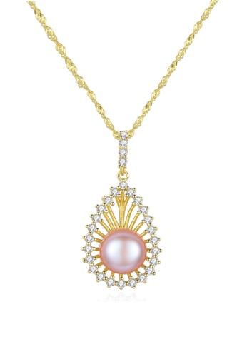 A.Excellence purple Premium Purple Pearl Elegant Necklace 0E4E0AC061B86EGS_1
