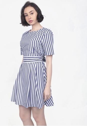 d4ca3c5d45 Shop Caoros Bow Striped Dress Online on ZALORA Philippines