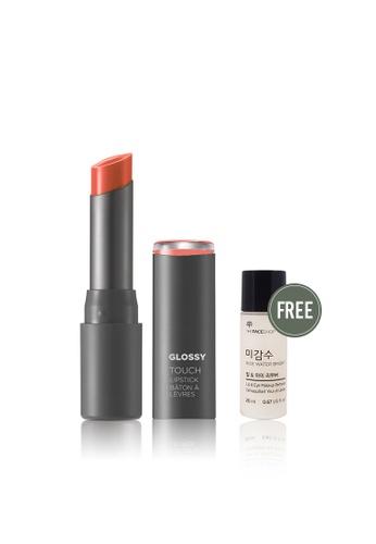 THE FACE SHOP orange Glossy Touch Lipstick CR01 02922BE0BA03E3GS_1