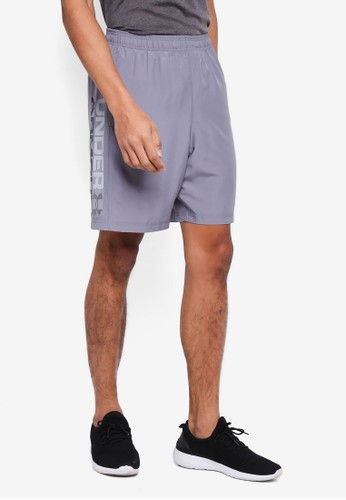 Under Armour grey Woven Graphic Wordmark Shorts 46C71AA9A0B5A0GS_1