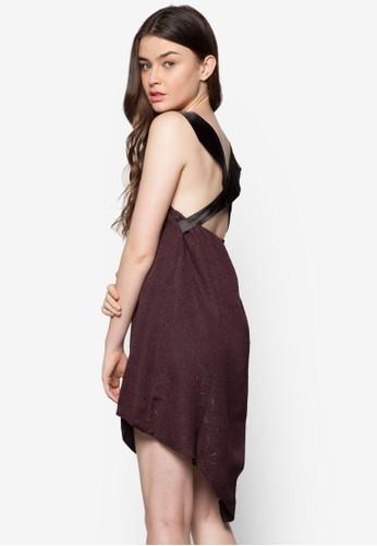 仿皮肩帶壓紋連身裙, 服飾,esprit台灣 服飾