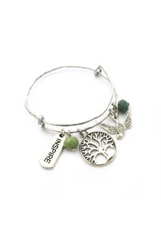 Tree, Inspire and Bird Bangle Bracelet