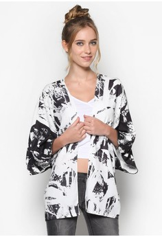 Abstract Print Kimono