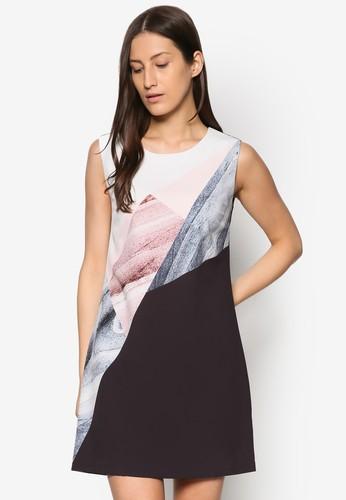 Collection 抽esprit品牌介绍象印花直筒連身裙, 服飾, 洋裝
