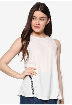 Ladder Trim Sleeveless Top
