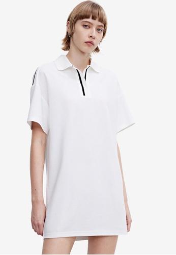 URBAN REVIVO white Polo Mini Dress 22F76AA06EB037GS_1