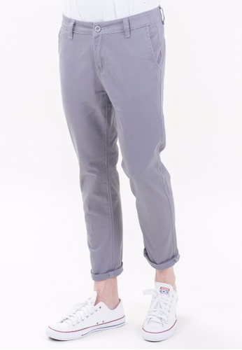 Drum Classic Slim Fit Chinos-GRY DR425AA20TJFMY_1