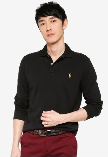 Socialismo gelato Piuttosto  Buy polo ralph lauren Long Sleeve Custom Slim Fit Basic Polo Shirt Online |  ZALORA Malaysia