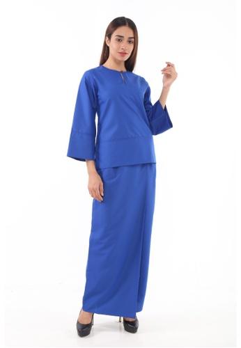 Baju Kurung Kedah Qaseh from Amar Amran in Blue