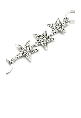 Glamorousky silver Silver Star Bracelet with Austrian Element Crystals EF3F4ACECB4EB6GS_1