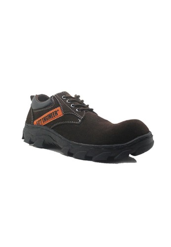 Cut Engineer brown Cut Engineer Safety Low Boots Lux Leather Cokelat Tua CU226SH96AUXID_1