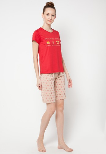 PUPPY red Short Pants Lily PU643AA65OHQID_1
