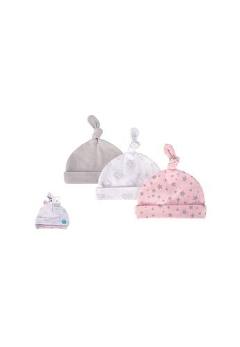 Little Kooma pink Baby Knot Beanie Hat 3 Pc 52304 - 1006 25A2FKC2F3EE7DGS_1