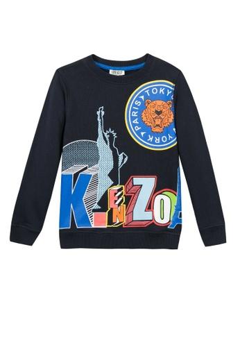 KENZO KIDS blue KENZO KIDS BOYS SWEATSHIRT 27B71KAA3C5E0CGS_1
