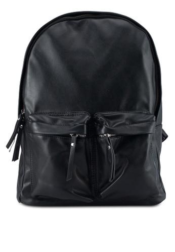 MANGO Man black Pockets Pebbled Backpack 2F862AC3F8E519GS_1