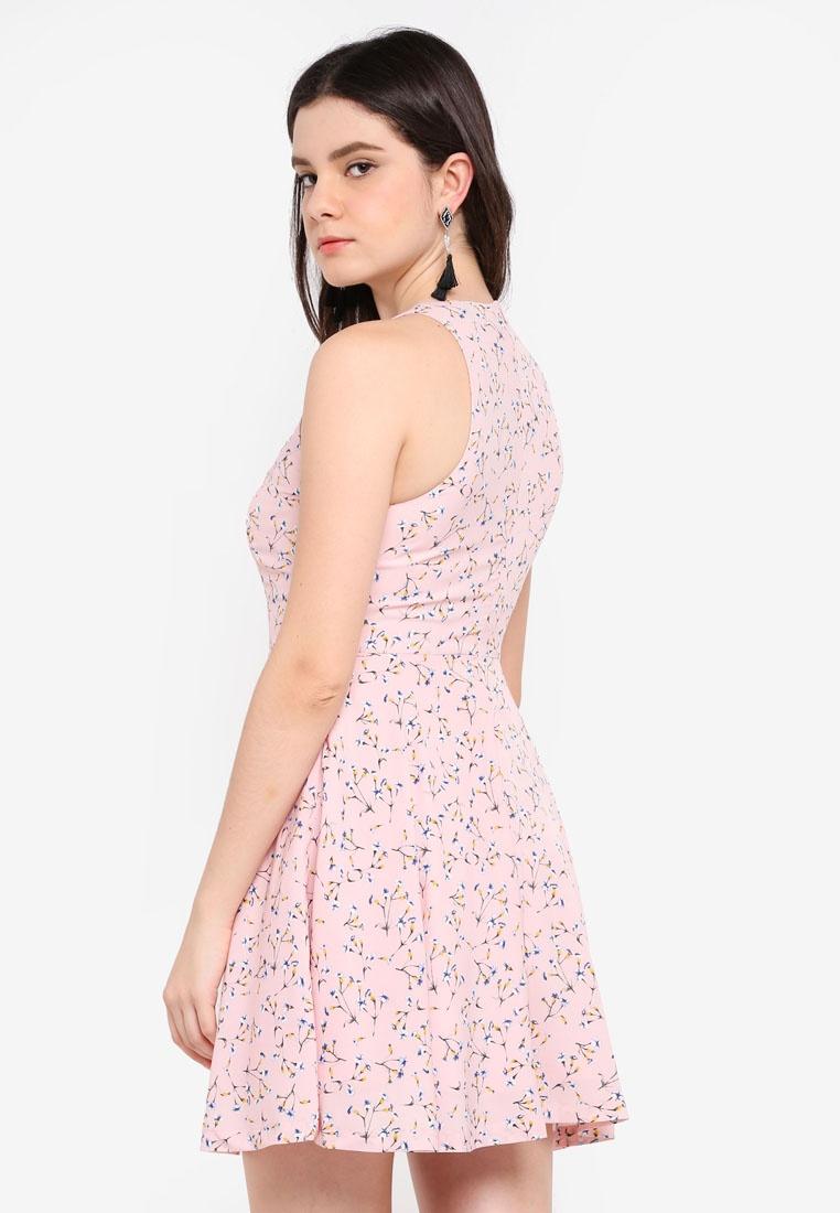 Swing Pink ZALORA Mini Floral Dress R8wPnpBqqd