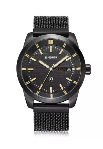 Expedition black Expedition Jam Tangan Pria - Black Ivory - Stainless Steel - 6773 MEBIPBAIV E564EAC5F12CACGS_1