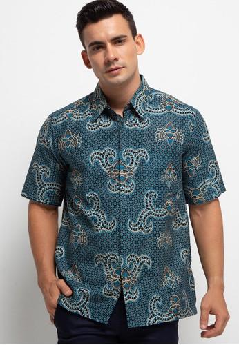 ARJUNA WEDA blue Hem Batik Latar Truntum 63632AAF32D377GS_1