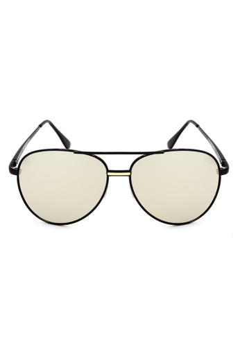 Maldives Eyewear silver Trevor Classic Aviator Sunglasses with Spring Hinge 1034-12-Y MA573GL48QOLPH_1