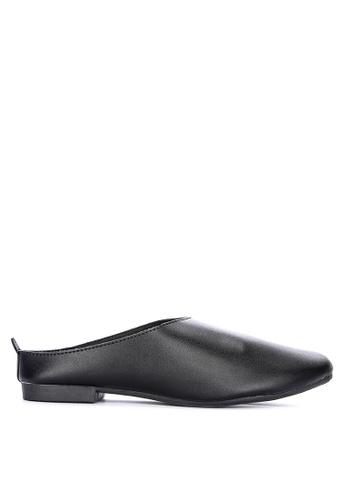 LND black Rein Flat Sandals 4A5DESH26B4604GS_1