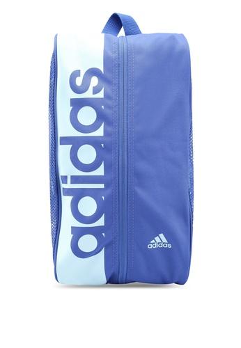 adidas blue adidas performance essentials linear performance shoe bag AD372AC0SUITMY_1