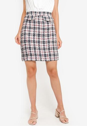 ZALORA WORK multi Contrast Tweed Mini Dress 3E0F5AA35BA4D4GS_1
