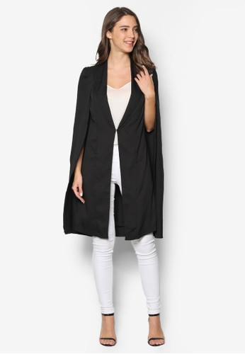 開衩袖長版西裝zalora時尚購物網的koumi koumi外套, 服飾, 外套