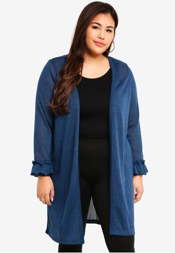 Junarose blue Plus Size Knit Cardigan 7CAB7AA277C832GS_1