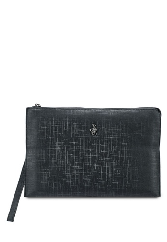 Swiss Polo black Swiss Polo Clutch Bag 33A0FAC007D72DGS_1