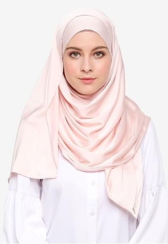 VERCATO beige Glam Diva Satin Silk Shawl F9EF2AA58756B1GS_1