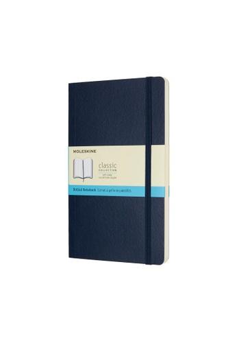 Moleskine blue Classic Notebooks Dotted Soft Blue Large BC432HLF196C26GS_1