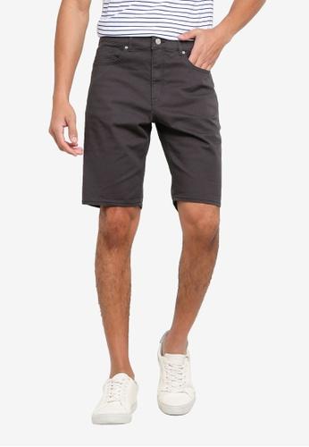 H&M grey Twill Shorts Slim Fit D1130AA41674ADGS_1