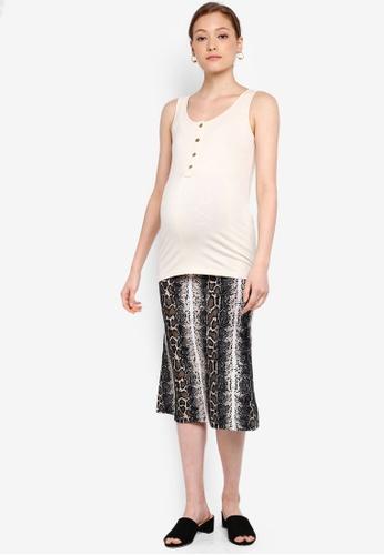 a7b82e49b662 Buy Mama.licious Maternity Dipsy Jersey Midi Skirt Online on ZALORA  Singapore