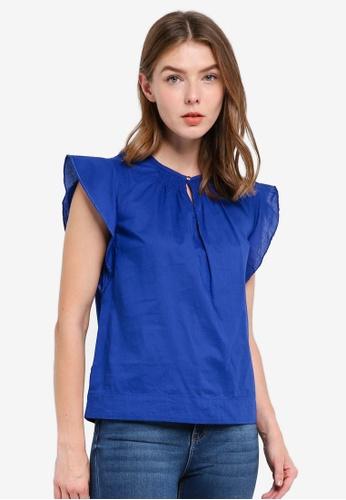 OVS blue Sleeveless Shirt DD3B0AA4F902C2GS_1