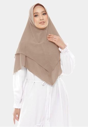 zelena brown Hijab Instan 2 Layer Khimar Maharani Ceruty Baby Doll - Millochoco 01CA2AA8C71EEEGS_1