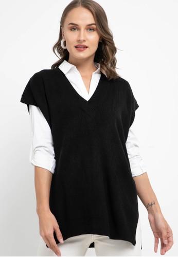 Noir Sur Blanc black Ladies Vest E74B2AA021FFF7GS_1
