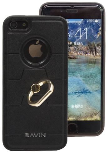 BAVIN black Back Cover Case With Ring Holder For iPhone 6s 93ECAACE4A8EEFGS_1