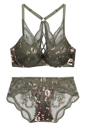 ZITIQUE black Small Floral Lace Soft Underwire Bra Set-Black DDBC9US2DBB1BDGS_1