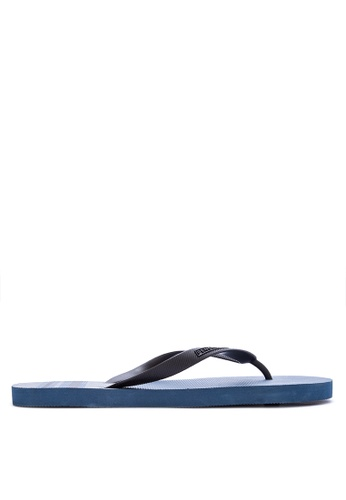 Penshoppe blue Rubber Flip Flops 26238SH03BF957GS_1