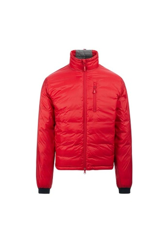 Canada Goose red Canada Goose Lodge Matte Finish Down Jacket in Red F6C14AAC429705GS_1