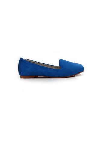 SHINE blue Suede Square Toe Slip On SH554SH0HA9WSG_1