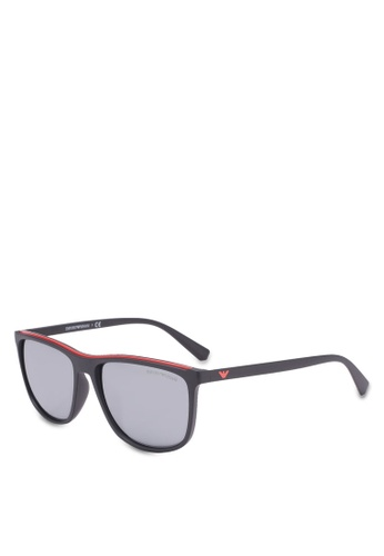 92abadc3abe7a Buy Emporio Armani Black EA4109F Sunglasses Online on ZALORA Singapore