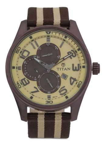 多功能條紋尼龍esprit 評價帶手錶, 錶類, 錶類