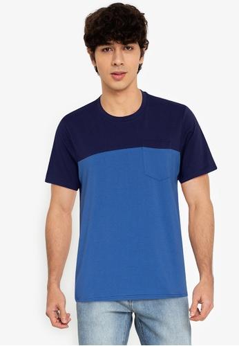 ZALORA BASICS multi Two-Tone Pocket T-Shirt 29D4CAA0A58574GS_1