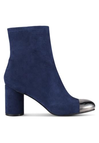 ZALORA 海軍藍色 Metal Toe Boots 59303ZZ14E3185GS_1