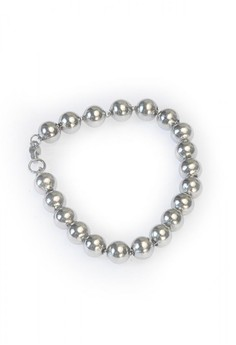 Stainless Steel Slide Ball Bracelet MB