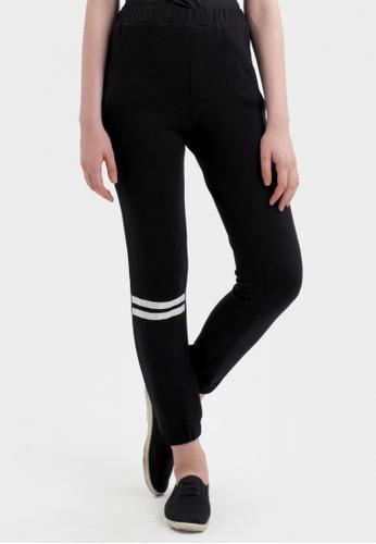 MKY Clothing Bottom Stripe Joger Pants In Black
